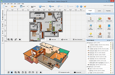 Interior design 3d smart interior design software for Interior design floor plan software