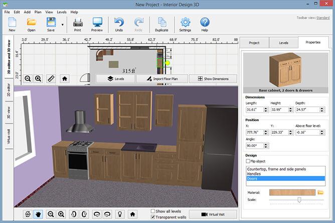 . Interior Design Software   Interface Screenshots