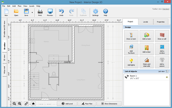 Import your current floor plan to the software