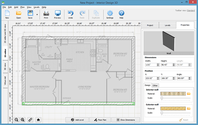 Import your floor plan to the app